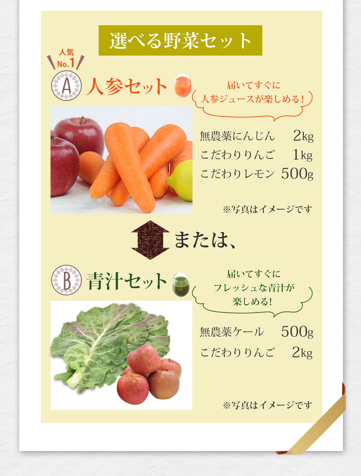 ピカイチ野菜くんなら選べる野菜セットプレゼント