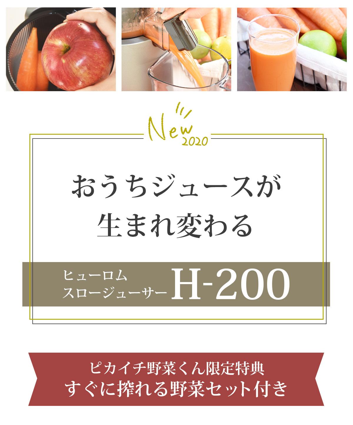 ヒューロムスロージューサーH-200