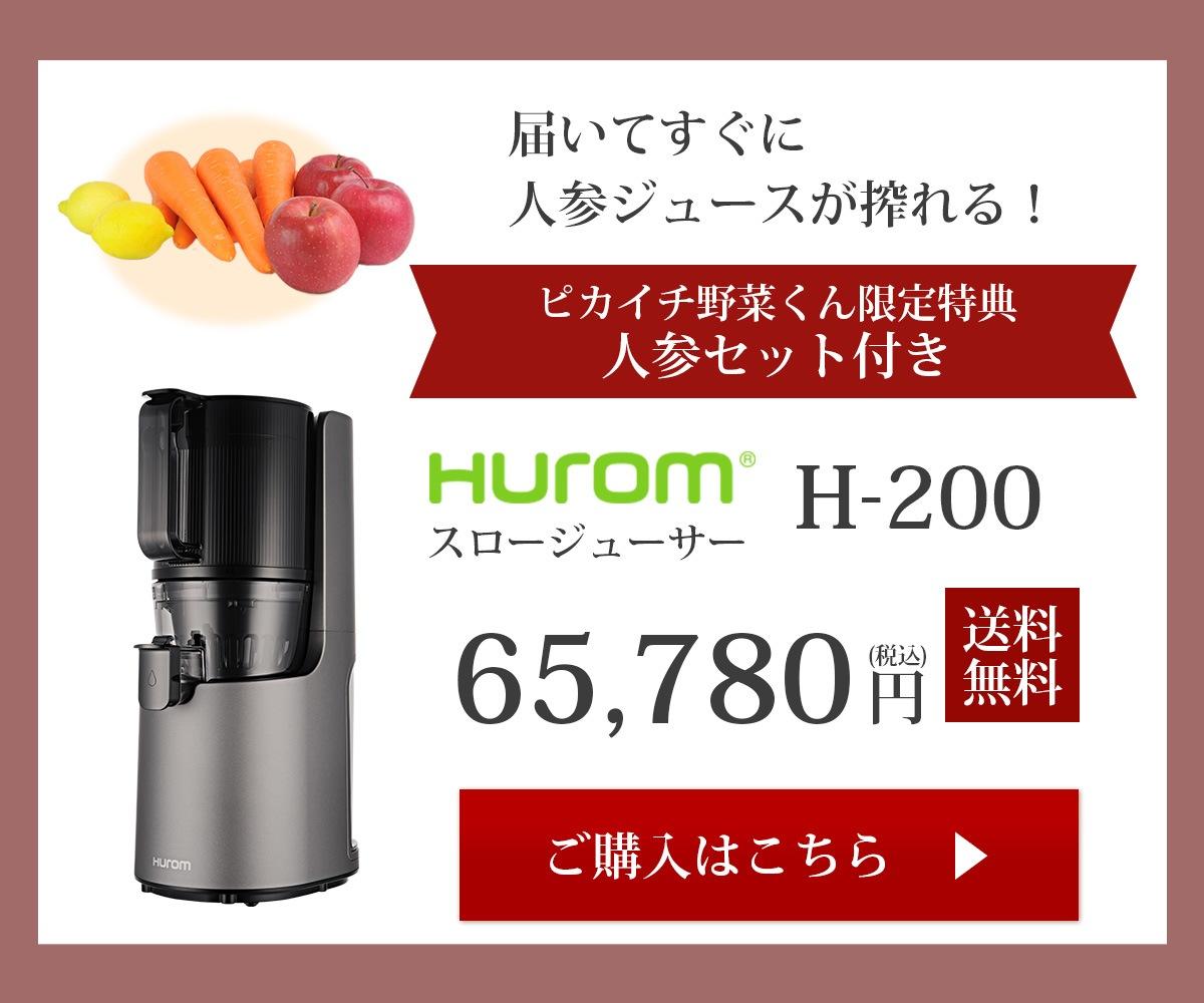 ヒューロムスロージューサーH-200ご購入はコチラ