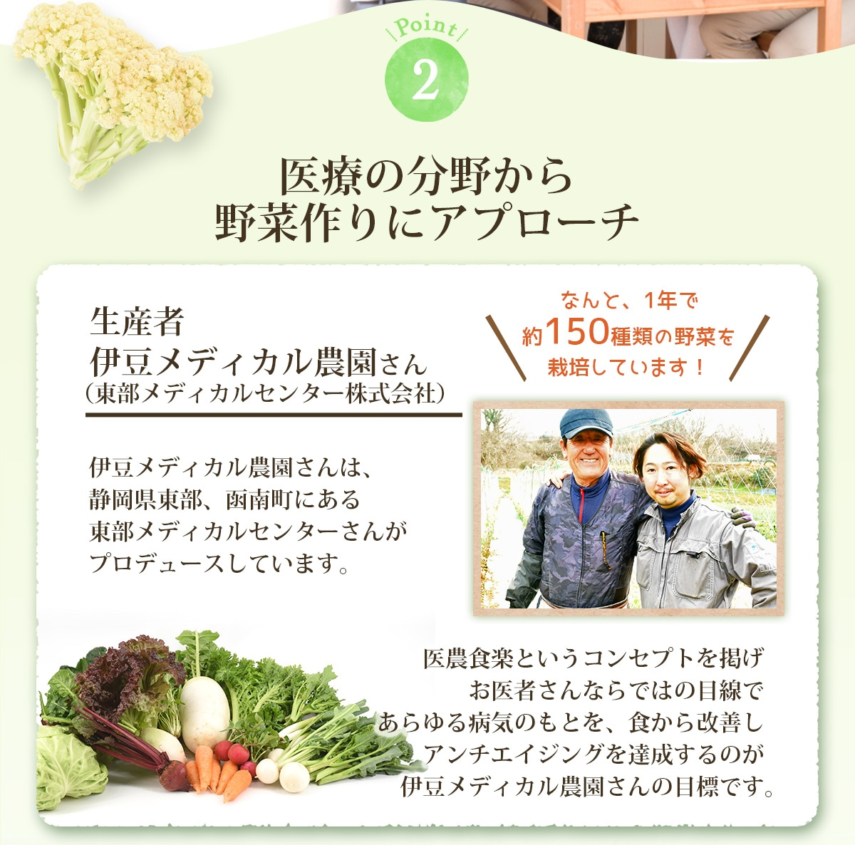 食から改善しアンチエイジングを達成するのが伊豆メディカル農園さんの目標