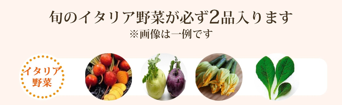 旬のイタリア野菜が必ず2品入ります