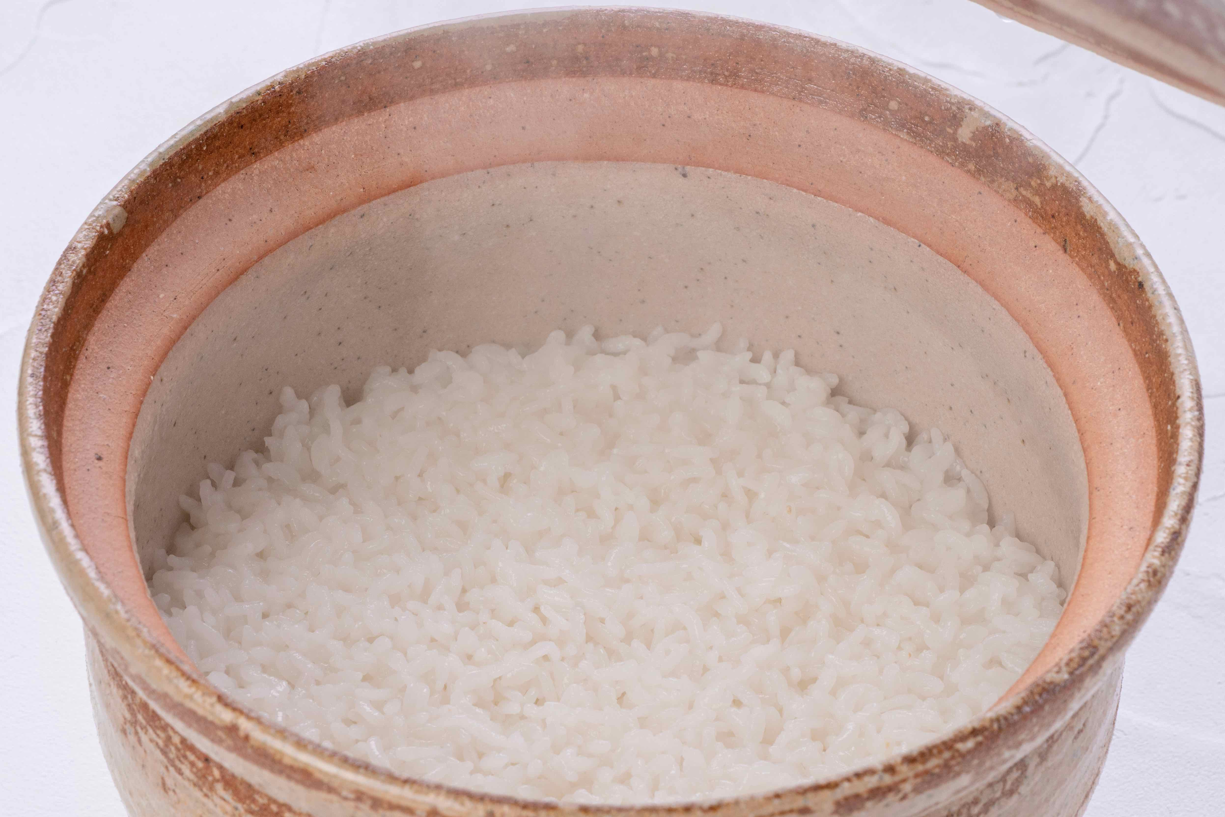 土鍋ご飯,炊きたての北海道産ゆきさやか