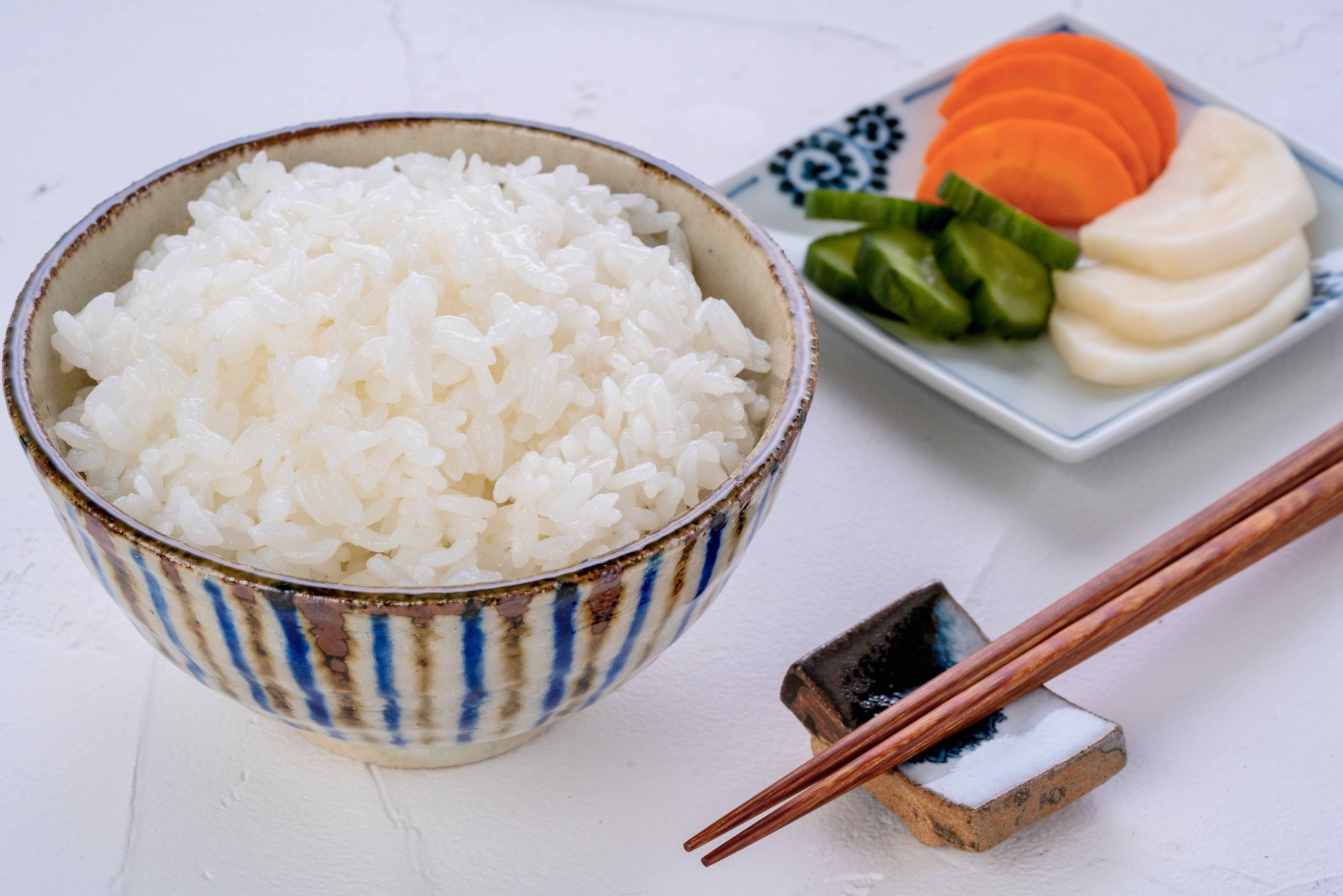 白飯と糠漬け,小坂農園のゆきさやかの炊きたてご飯と漬物