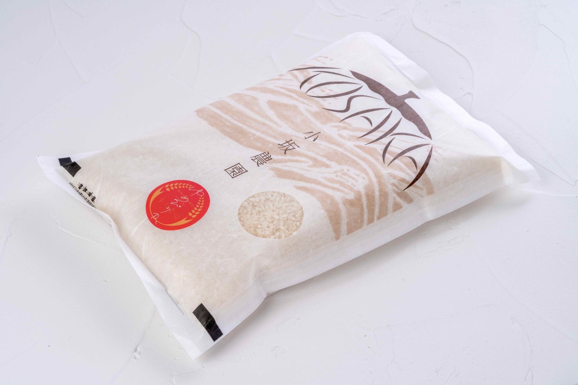通販・お取り寄せ北海道米,むかわ町小坂農園のゆめぴりかのパッケージ