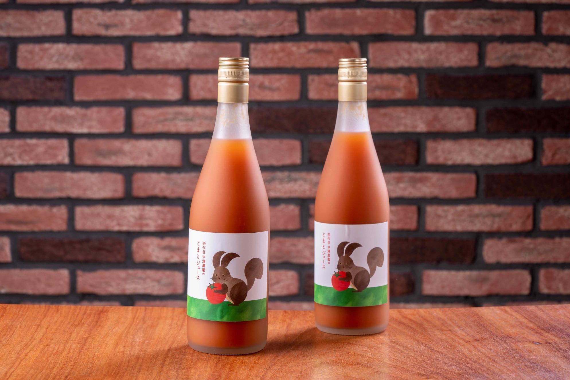 通販・お取り寄せ北海道産トマトジュース,むかわ町の四代目中澤農園で栽培した中玉トマト「Mr.浅野のけっさく」を使用したジュース