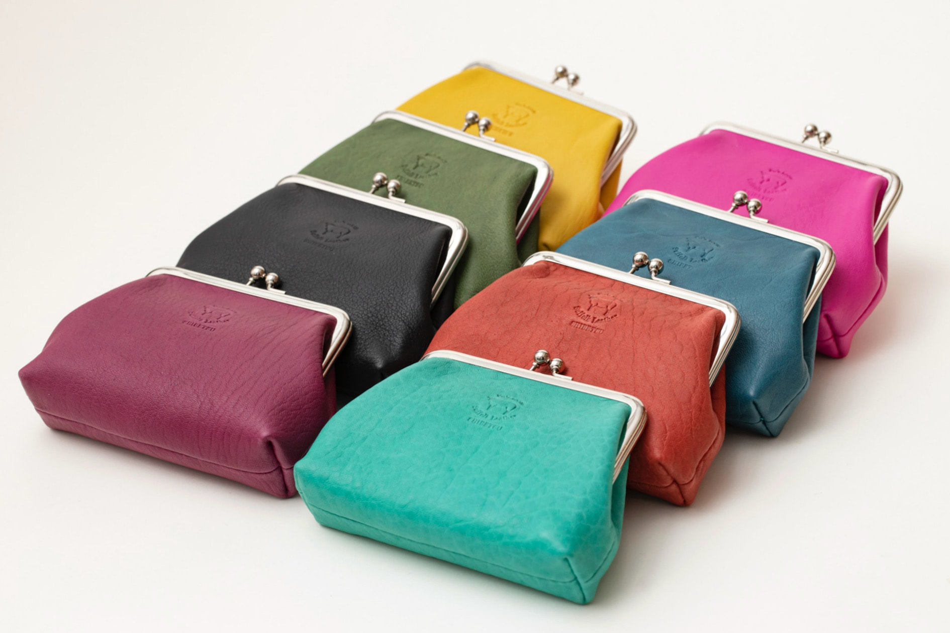 北海道の羊革で作られたFu's roomの「がま口(Lサイズ)」8カラー,サフォークレザーのハンドメイド財布,札幌スタイルの認証製品