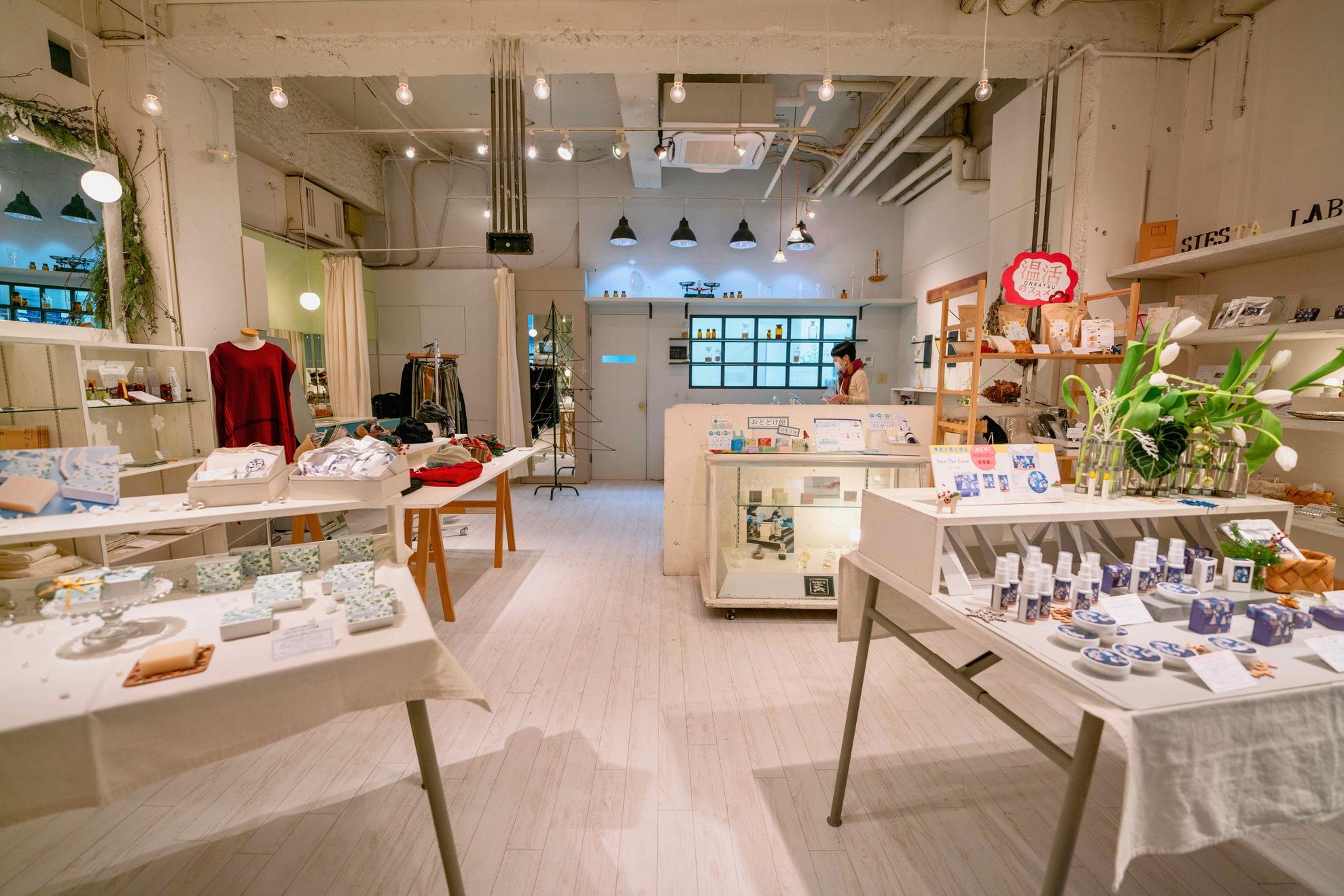 北海道札幌市の「SAVON de SIESTA(サボンデシエスタ)」の店内