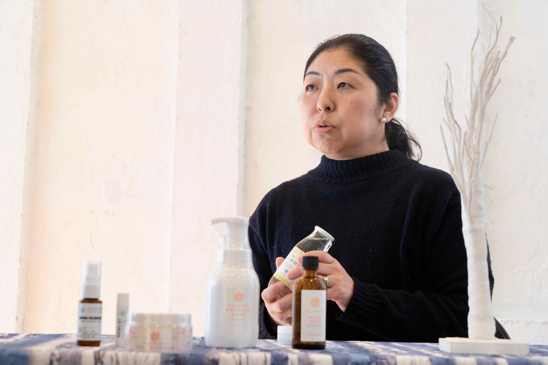 北海道札幌市でスキンケア商品の企画・販売をしているThe St Monica(セントモニカ),セントモニカの代表の七戸さん