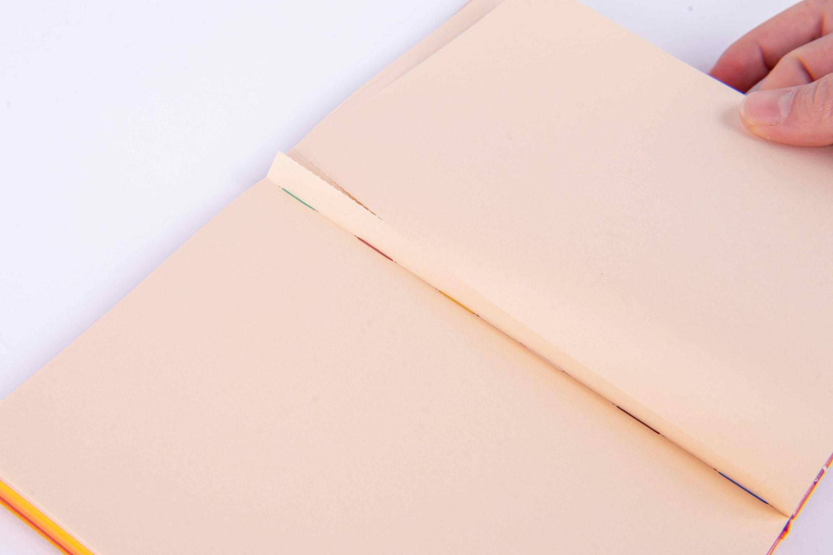 ミシン目が付いて切り取りできるノート,booco DELICIOUS COLOR ハードカバー