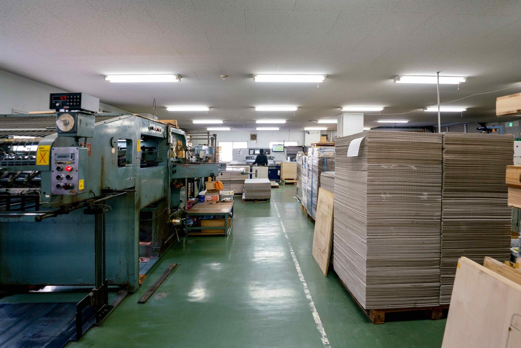 モリタ株式会社のオリジナルパッケージ製造工場