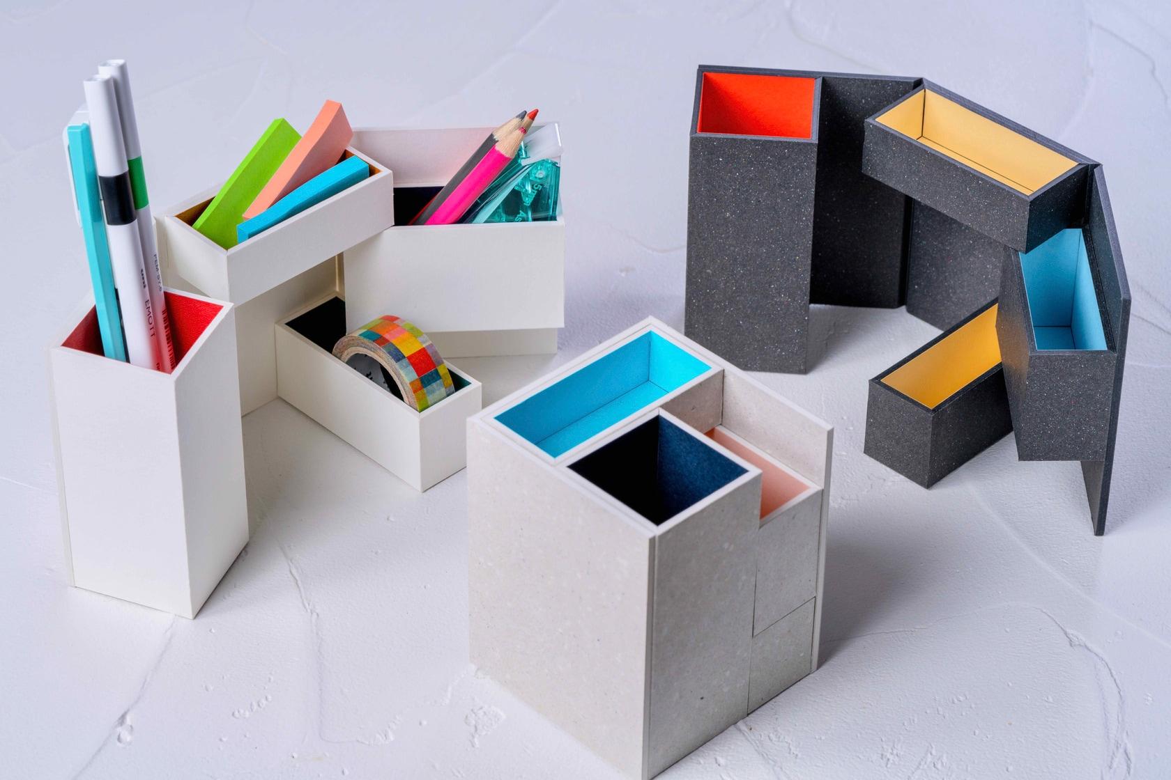 通販・お取り寄せ紙箱の収納ボックス,モリタのMiNiMuM Space BOX-1,札幌スタイル認証製品