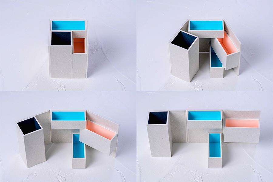 モリタのミニマムスペースボックス-1(グレー)を開けたり閉じたりする,使い方が自由な収納箱