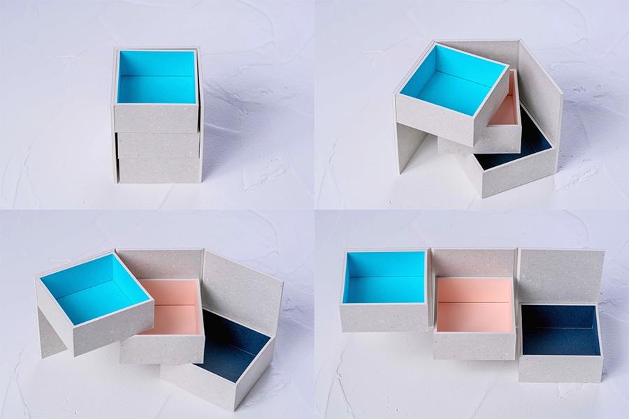 モリタのMiNiMuM Space BOX-2(グレー)を開けたり閉じたりする,使い方が自由な収納箱