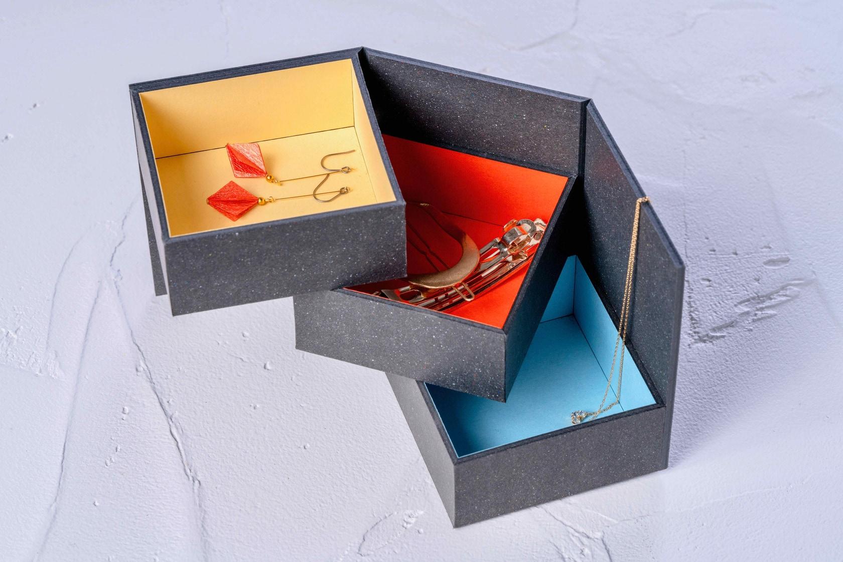 アクセサリーや貴重品を収納できるモリタの紙箱,ミニマムスペース