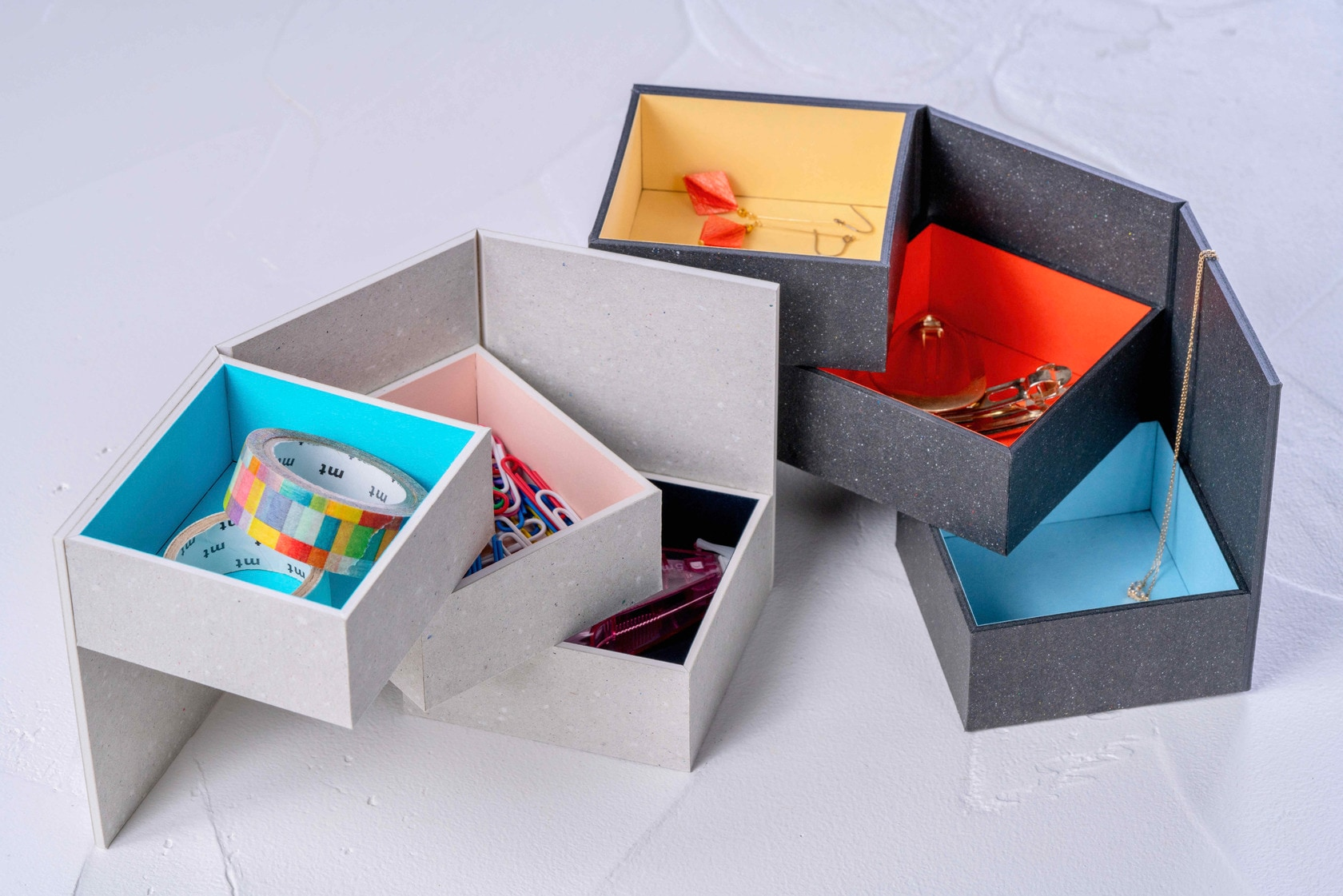 通販・お取り寄せ紙箱の収納ボックス,モリタのMiNiMuM Space BOX-2,札幌スタイル認証製品