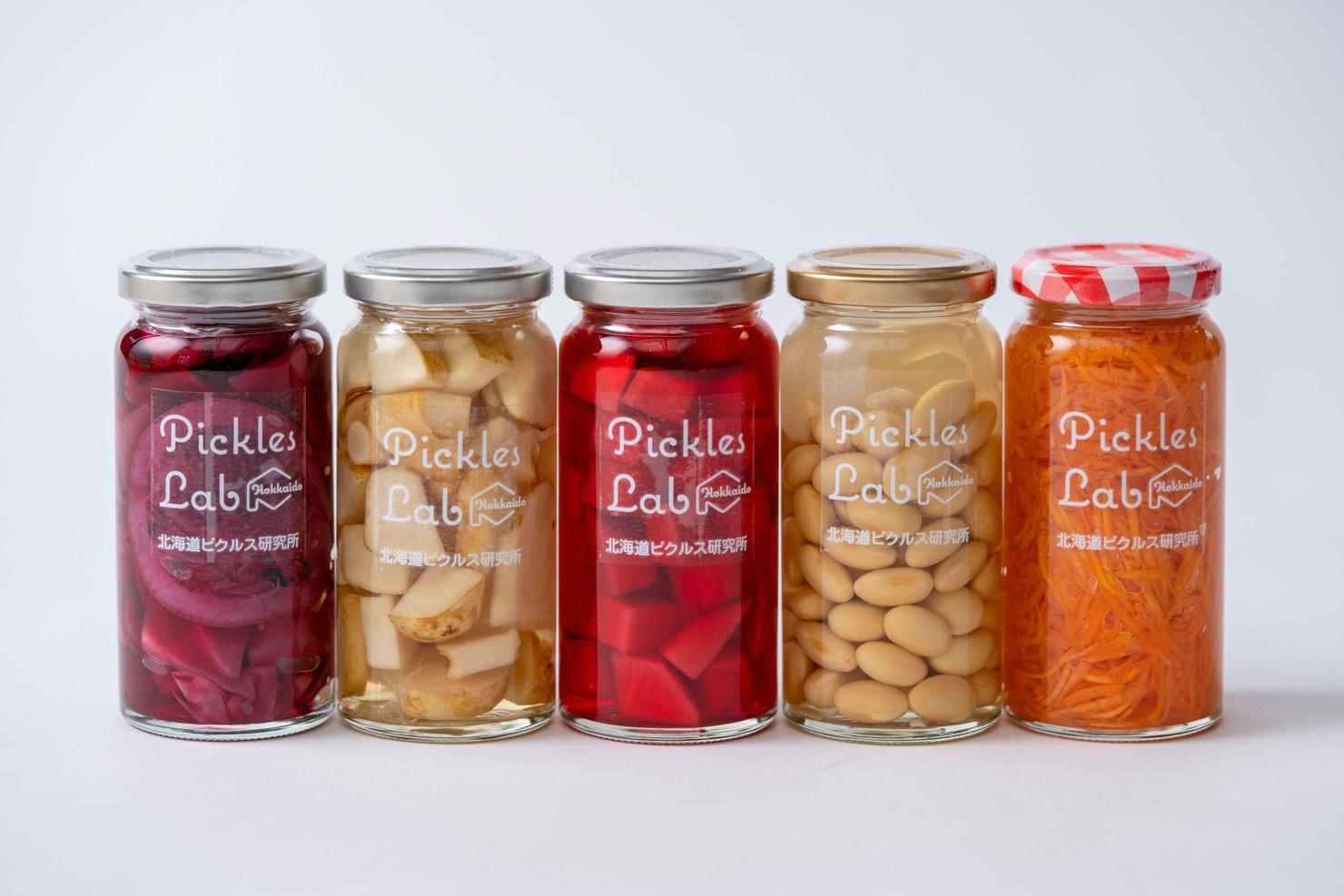 北海道の野菜を使った5種類のピクルス,瓶詰めピクルスギフト