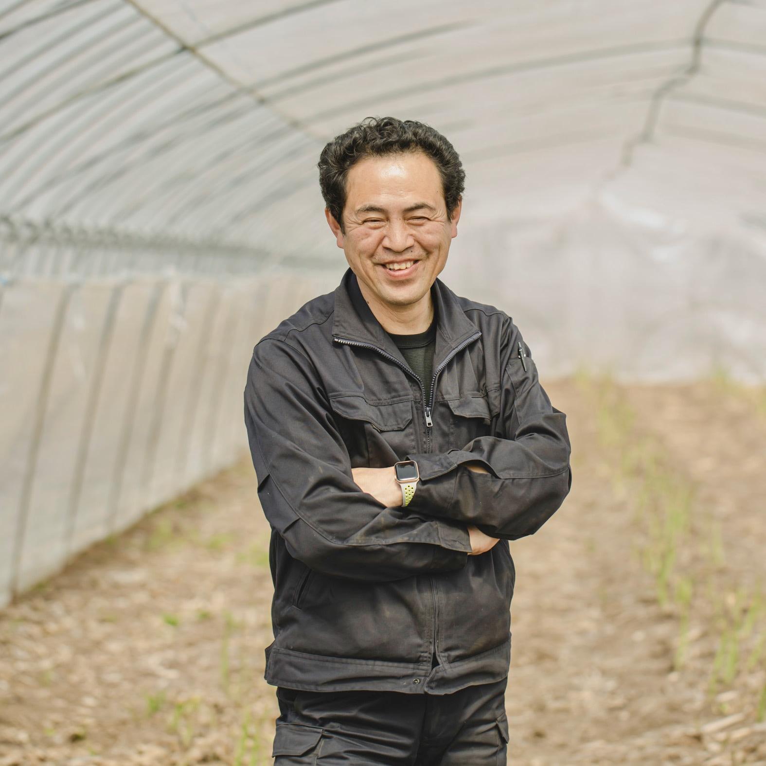 北海道むかわ町小坂農園の農場主の小坂さん