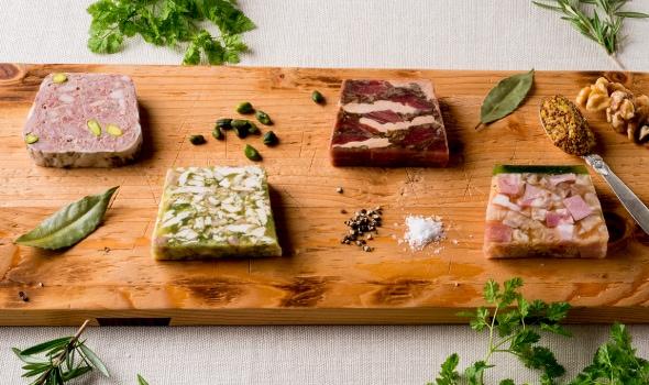 4種類の肉のテリーヌ