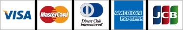 VISA / MASTER / DinersClub / AMERICAN EXPRESS / JCB