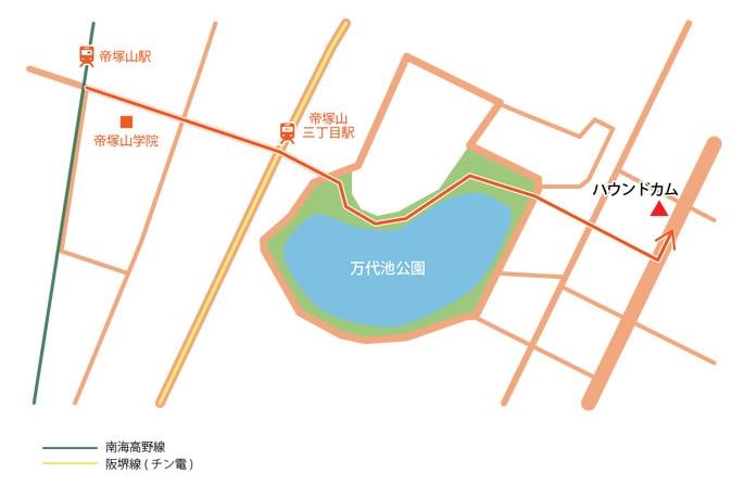 徒歩ルート地図