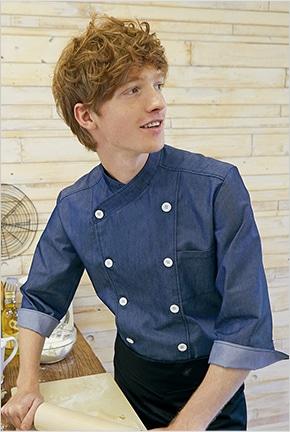 デニムコックコート七分袖 6-110