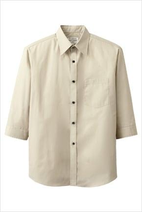 ブロードシャツ七分袖 EP7618