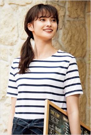 ボーダーTシャツ半袖 HM22-4