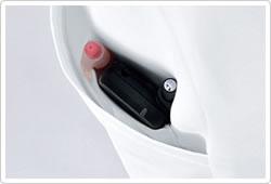サイドポケットの内側には、ペンやPHSが収納できる内ポケット付きです。(右側ポケットのみ)