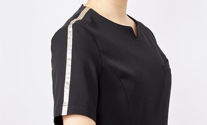 肩口のラインデザイン