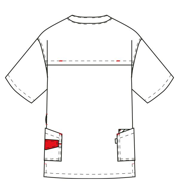 AL-0004 バックスタイルイラスト
