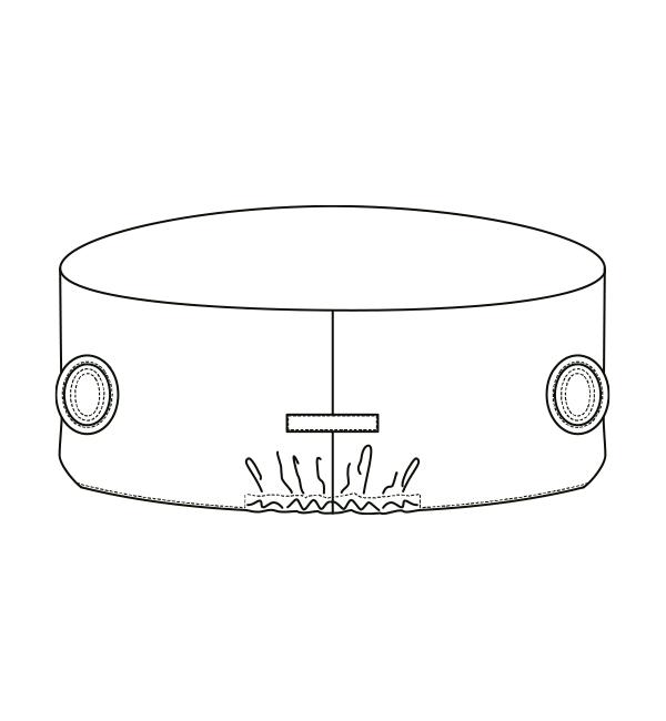AL-0011 バックスタイルイラスト