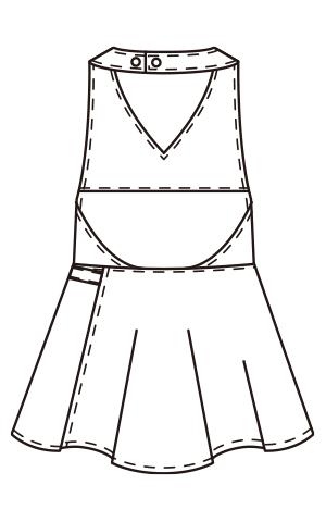 CL-0230 バックスタイルイラスト