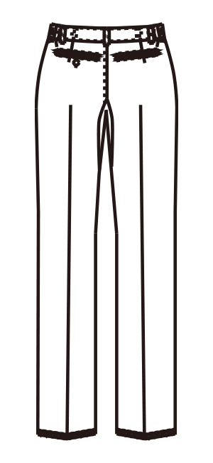 MZ-0153 バックスタイルイラスト