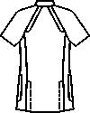 ユナイト/ミズノ男子ケーシージャケット半袖バックスタイル