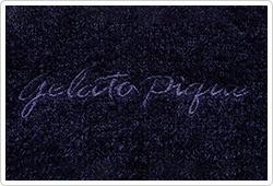 ジェラートピケのロゴ刺繍