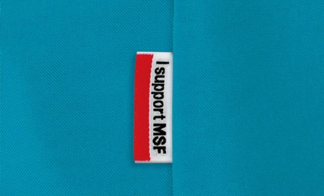 左ポケットの脇に「I support MSF」のピスネーム付き