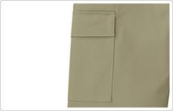 作業性を高めるポケットを両サイドに配置。