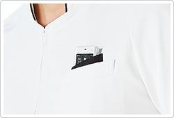二重仕様の左胸ポケット