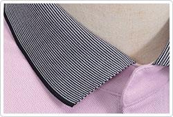 リブ編みの衿