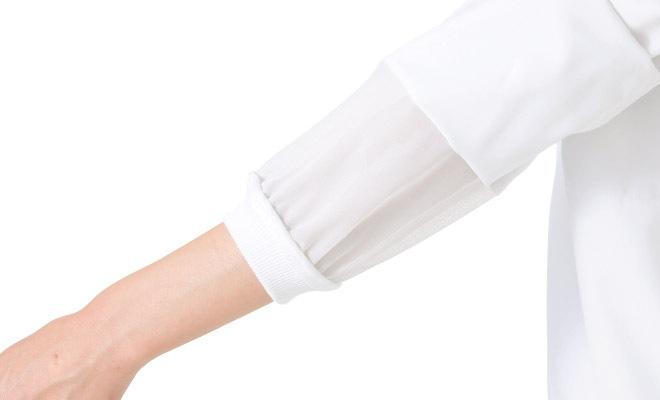 袖口体毛防止加工袖