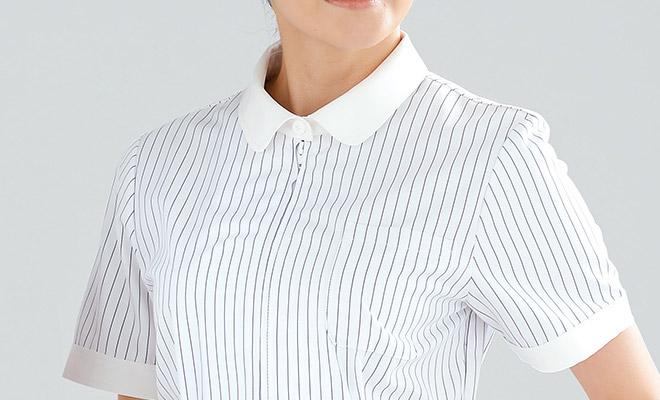 白が映える衿元は、台衿付きタイプ。