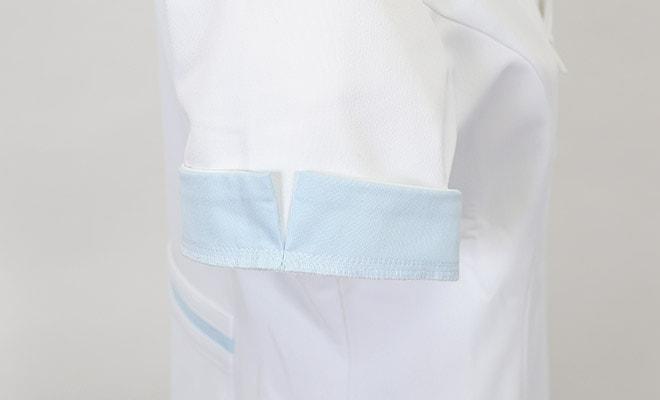 皮脂汚れが目立たないように、袖の内側にも配色。