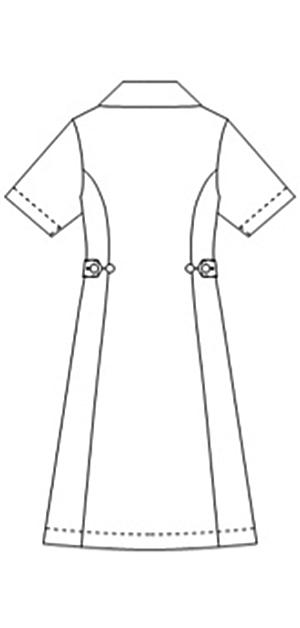 031-28 アレニエワンピース半袖バックスタイル