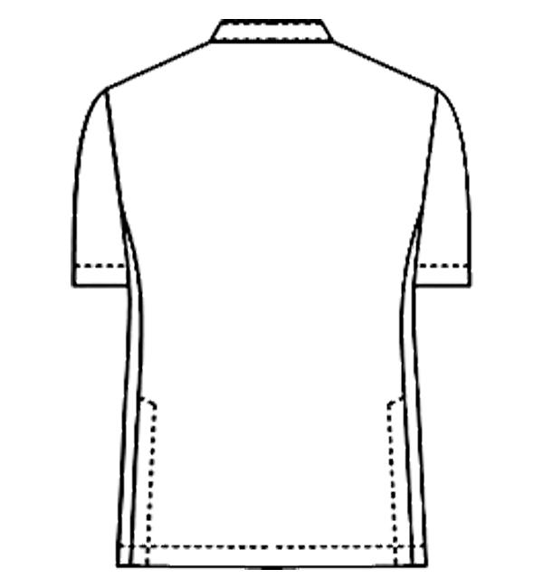 052-28 アレニエメンズジャケット半袖バックスタイルイラスト