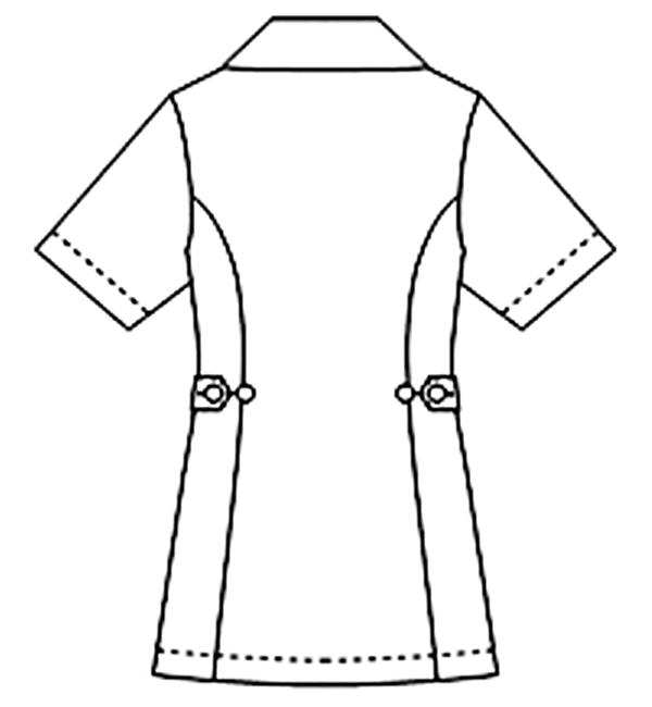 081-28 アレニエレディスジャケット半袖バックスタイル
