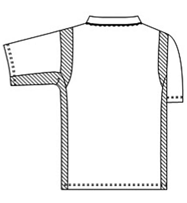 134-9 高機能ポプリン男女兼用スクラブバックスタイル