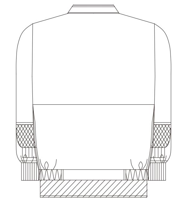406-70 バックスタイルイラスト