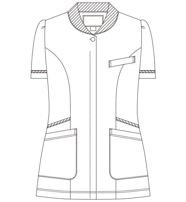 776 レディスジャケット半袖フロントスタイル