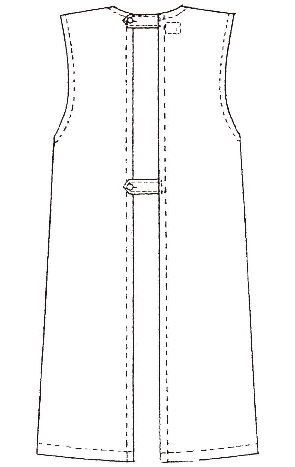 924-3 ブロードバック予防衣袖なし
