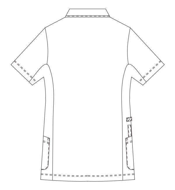 980 レディスジャケット半袖バックスタイル